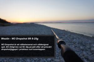 Fiskespö test - Westin W3 Dropshot 8 ft 5-28g